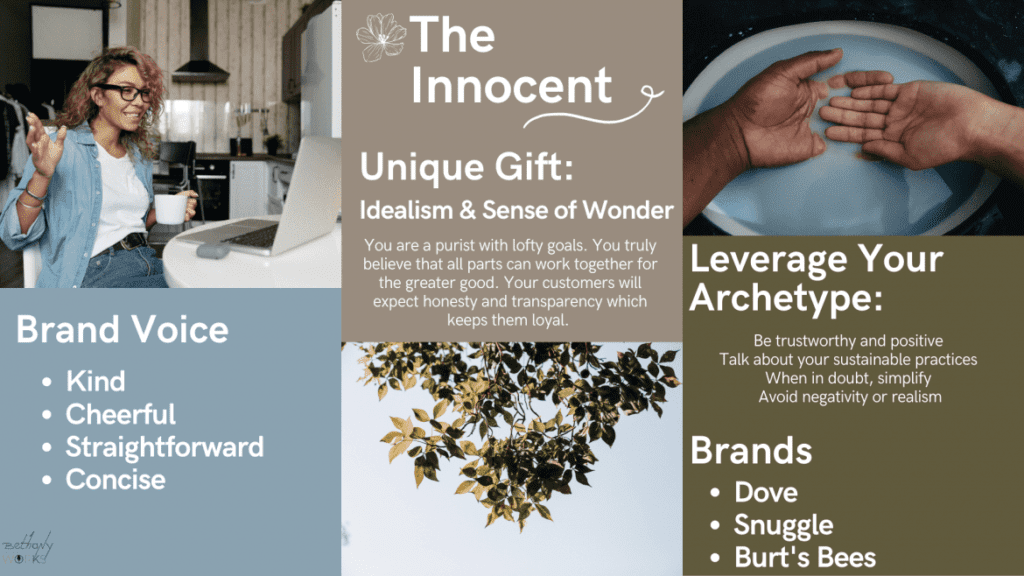 Infographic of The Innocent Archetype