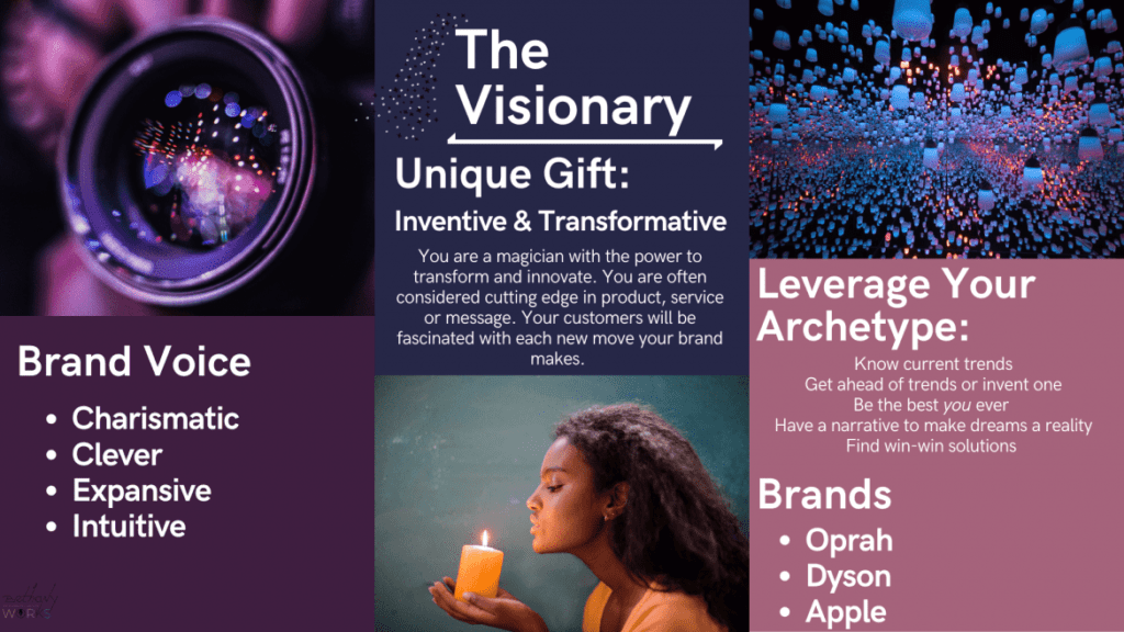 Infographic of The Visionary Archetype
